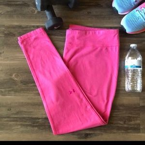 Pink under armour leggings